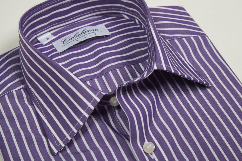 Camisa a rayas anchas Morado