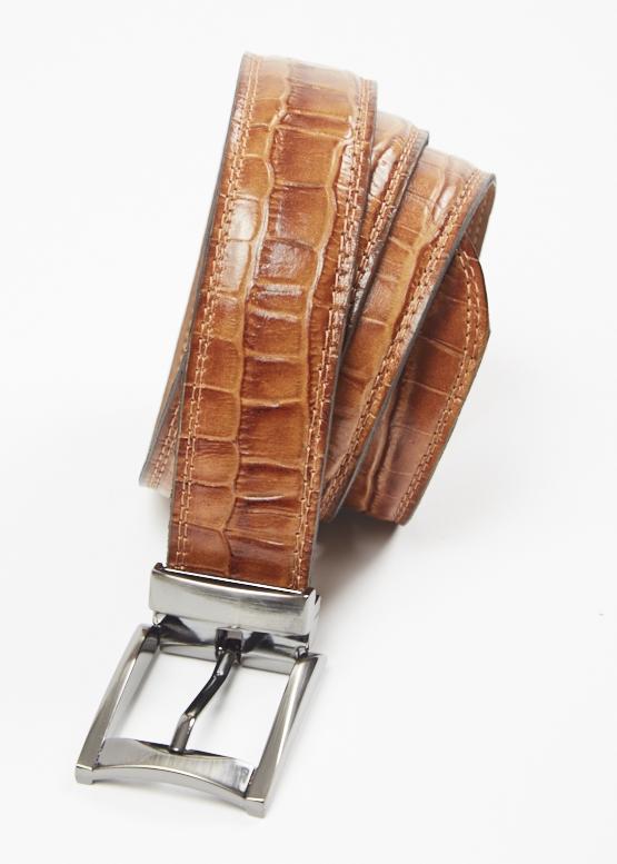 Cinturón Croco Anilina