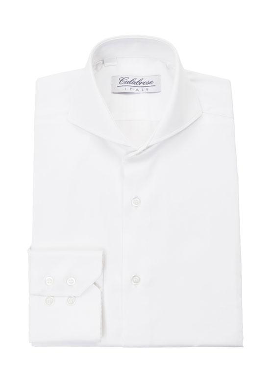 Camisa Blanca cuello Calabrese